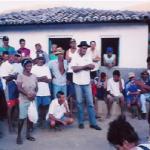 Reunião entre atingidos. Comunidade do mutuca