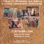 I FORÚM DO PROGRAMA QUILOMBOLA E OUTRAS COMUNIDADES TRADICIONAIS