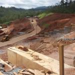 Obras do reassentamento de Bento Rodrigues, em Mariana, tirada em janeiro de  2021